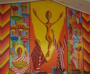 Mveng Resurrection Chapel of Hekima College Nairobi